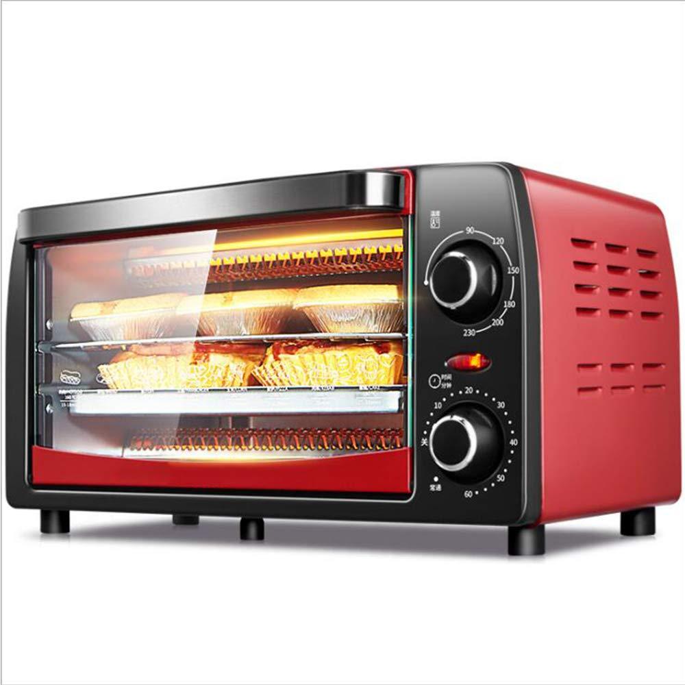 AA100 Forno Elettrico Cottura Multi-Funzione Domestica Mini Forno Cottura 12L (Rosso) 1050W