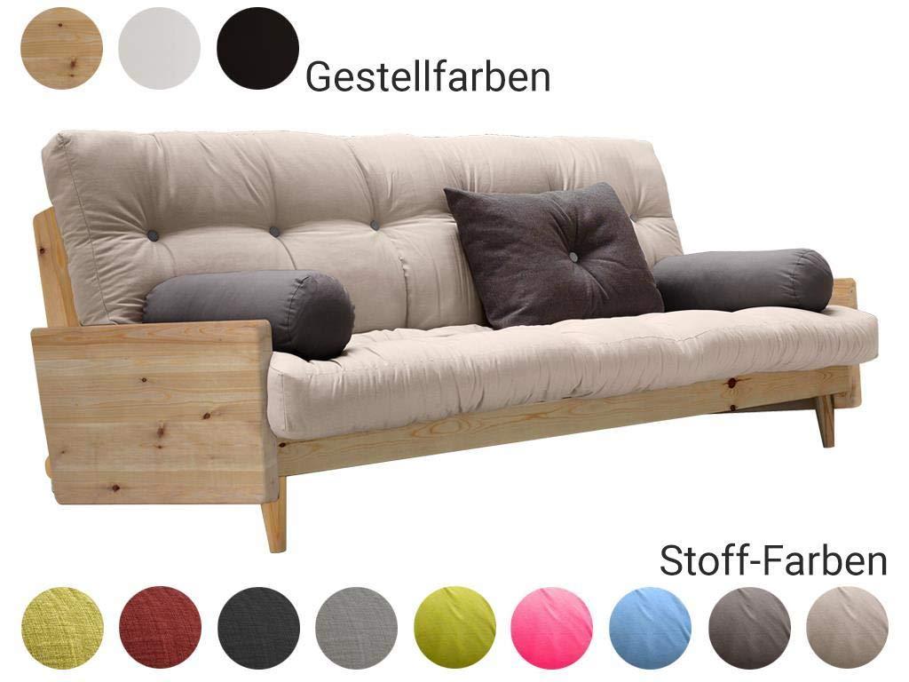 Karup 510102302 Sofabett Schlafsofa, Holz, Dunkelgrau/Granit Grau ...