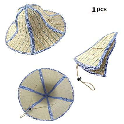 03ef6599d9e Amazon.com  Feisuo 1 Pcs Summer Beach Boater Straw Hat