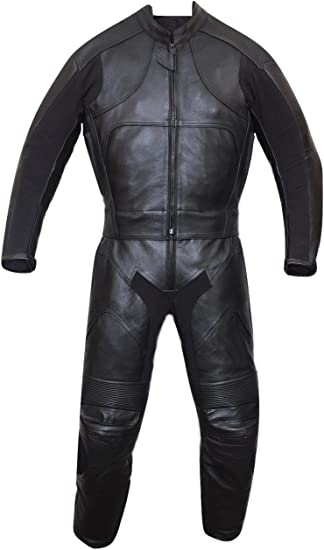 New Motorbike One 1Piece Motorcycle Genuine Cowhide Leather Racing Suit CE Armou