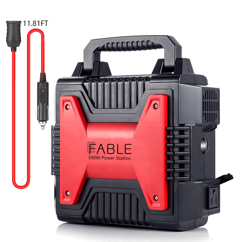 Portable Power Generator Station, EFABLE Emergency Backup Lithium Battery 300W 80000mAh 266Wh Power Supply Dual AC & USB Ports, Solar Generator for Outdoors Camping Travel Fishing Hunting