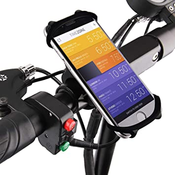 Amazon Com Greallthy Bike Phone Mount Adjustable Silicon Cell Phone