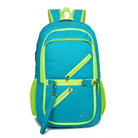 HWX Mochila Plegable para los Amantes. Ligero Resistente al Agua Packable Daykpack, Gran diseño