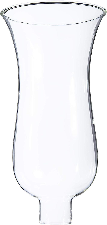 """B&P Lamp 1 5/8"""" X 10"""" Clear Hurricane Shade"""