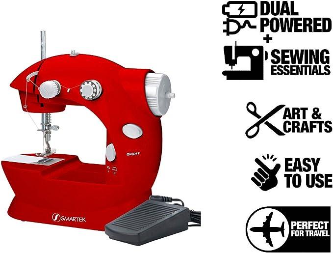 Amazon.com: Smartek rx-08 Mini Máquina de coser con pedal ...