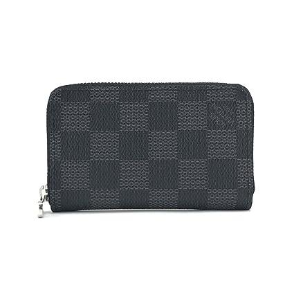 Louis Vuitton Zippy organizador negro Damier graphite