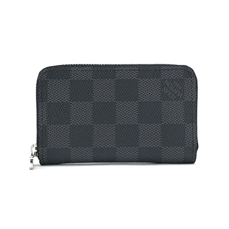 Louis Vuitton Zippy organizador negro Damier graphite