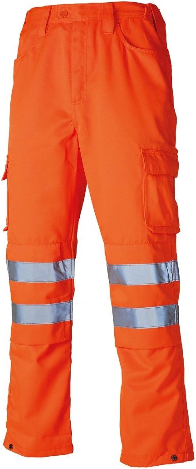 "COSALT HI VIS ORANGE Polycotton Work Trousers Combats Highways Railway GO//RT 32/"""