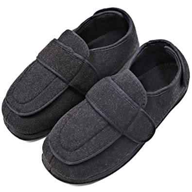 4d78db81e MEJORMEN Women's Diabetic Edema Shoes with Adjustable Strap Closures  Swollen Feet Arthritis Wide Nonslip Slippers Orthopedic