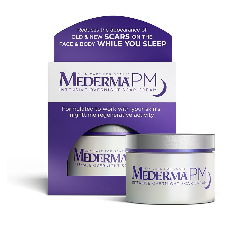 Mederma PM Intensive Overnight Scar Cream - Works with Skin's Nighttime Regenerative Activity - Once-Nightly Application Is Clinically Shown to Make Scars Smaller & Less Visible- 1.7 ounce by Mederma