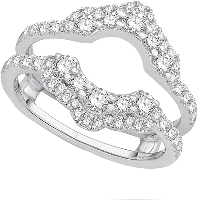 SwaraEcom White Gold Plated Princess Clear CZ Solitaire Nose Pin Ring Stud for Women
