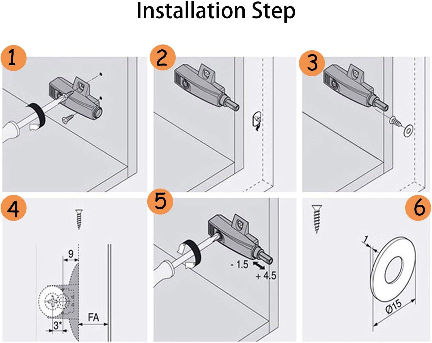 Damper Buffer Cabinet Door Soft Close Draw Stop Anti Collision 2pcs