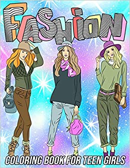 Fashion Coloring Book For Teen Girls Fun And Beauty Coloring Pages For Teens With Gorgeous Fashion Style Other Cute Designs Zentangle Designs Mezzo 9798568460428 Amazon Com Books