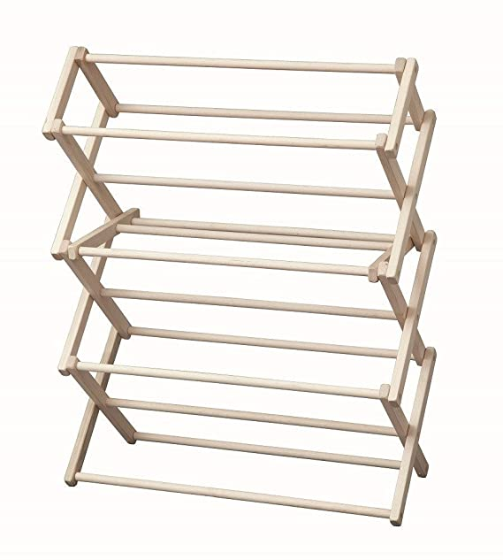 Amazon.com: Laundry Drying Rack Collapsible Wood Garment Dryer: Home & Kitchen