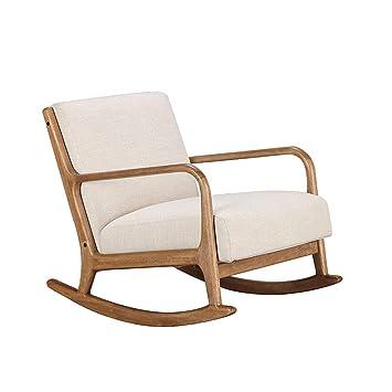 Miraculous Amazon Com Xiaoping Balcony Lazy Rocking Chair Solid Wood Customarchery Wood Chair Design Ideas Customarcherynet