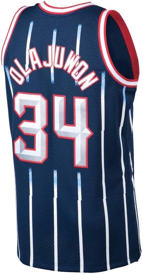 NDLM Camiseta de Baloncesto para Hombre,Hakeem Olajuwon #34 Game Jersey Armada