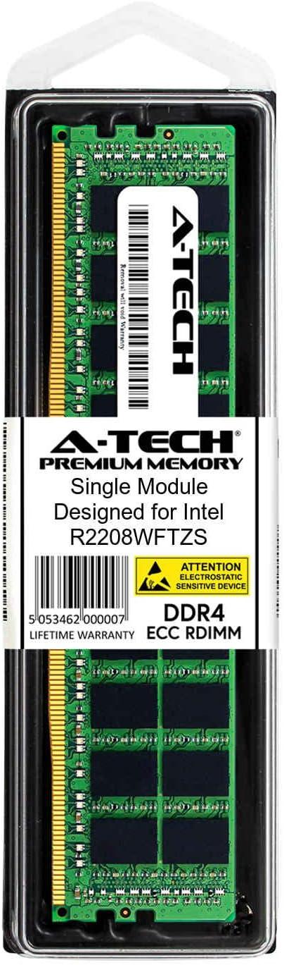 DDR4 PC4-21300 2666Mhz ECC Registered RDIMM 2rx8 2 x 8GB AT370393SRV-X2R2 for Intel R2208WFTZS Server Memory Ram A-Tech 16GB Kit