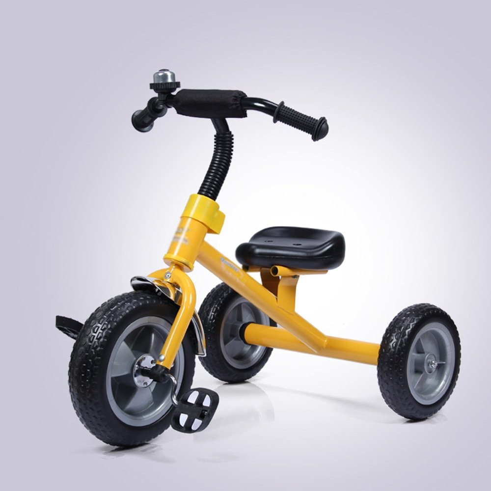 マチョン 自転車 子供の三輪車の自転車1-3男性と女性の赤ちゃんの子供のペダル自転車の赤ちゃんキャリッジ B07DS8NMJ9イエロー いえろ゜