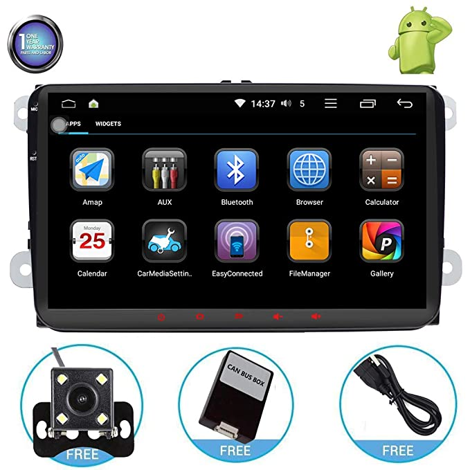 Amazon.com: Android Car Stereo with Navigation-9 Inch Touch Screen Double Din Car Stereo with Bluetooth 2 Din Android Head Unit GPS Navigation for Car VW ...