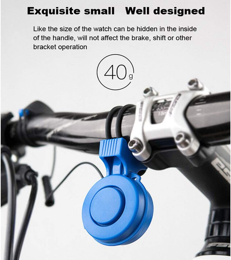 Electronic Bicycle Bell 120 DB Waterproof 3 Sound Modes with USB Rechargeable Battery HITECHLIFE Electric Bike Bell//Horn