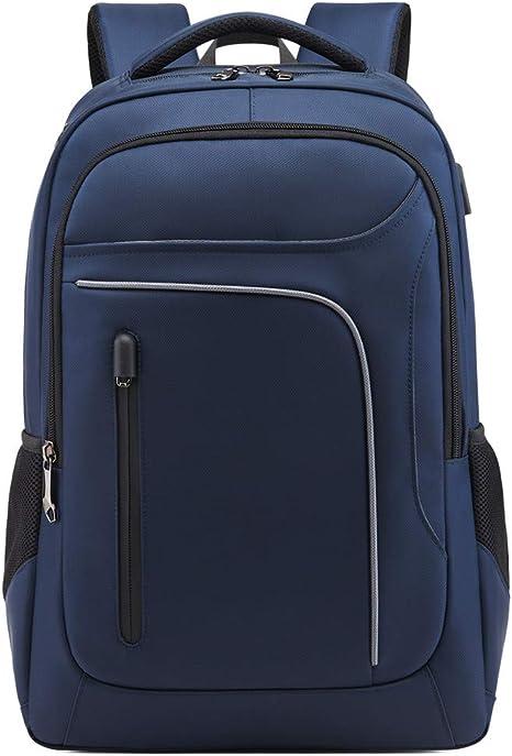 Cartables Scolaires Ordinateur Portable Sacs Scolaires avec USB Charging Port Sac a Dos Imperm/éable Nylon Sac /à Dos Femme Homme Sacs /à Dos Loisir Unisexe Bleu