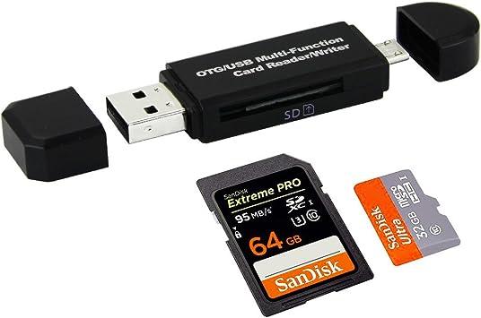 kbnian OTG/USB Multifuncional Lector de Tarjetas/Escritor a USB ...