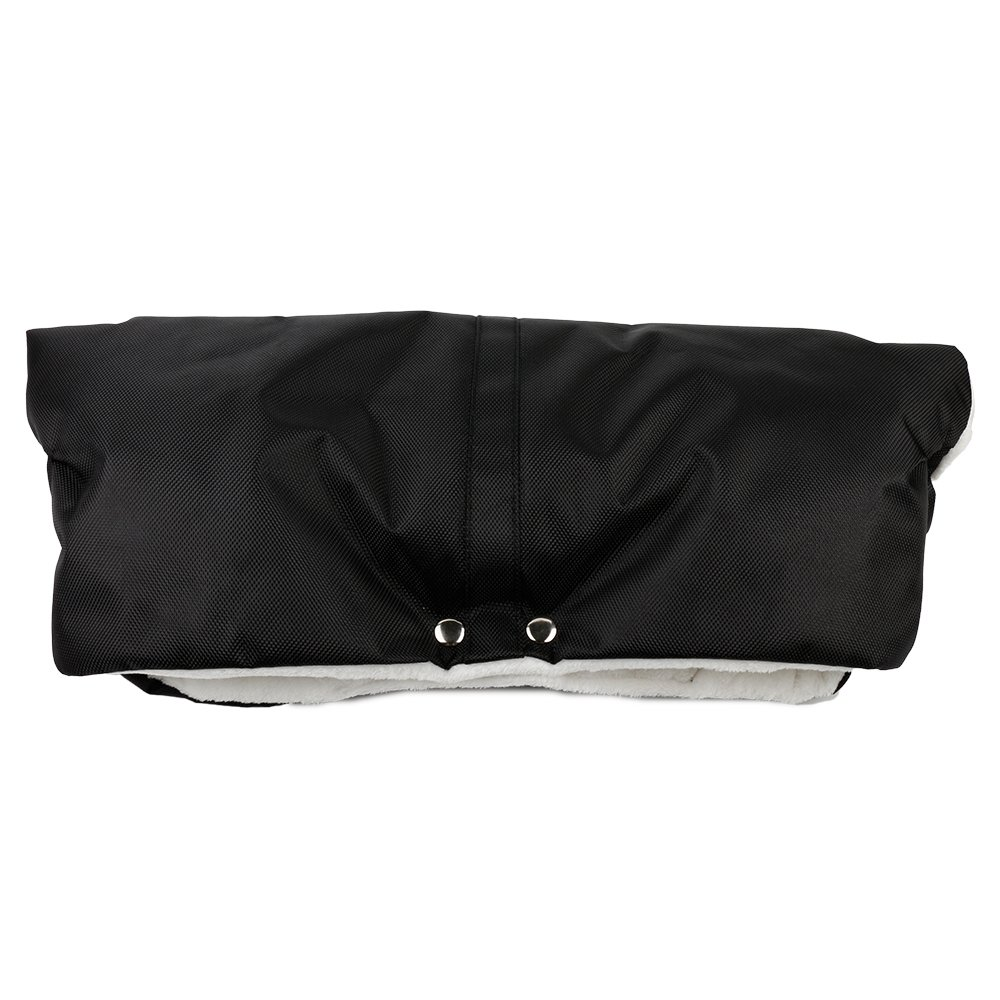 Bidear Stroller Hand Muff Water-resistant Gloves Warmer Winter Gift for Parent and Caregivers (Black) SHM