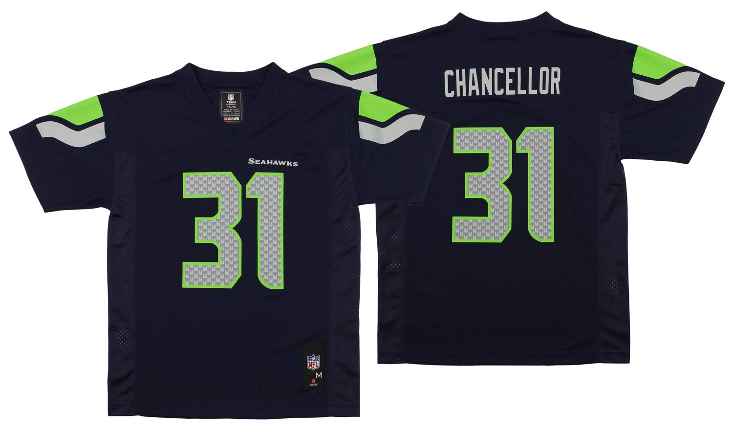 0f82d46e3 Amazon.com : NEW Seattle Seahawks KAM CHANCELLOR #31 Navy Blue Youth Boys  NFL Football Jersey Size XL 18-20 X-Large : Sports & Outdoors