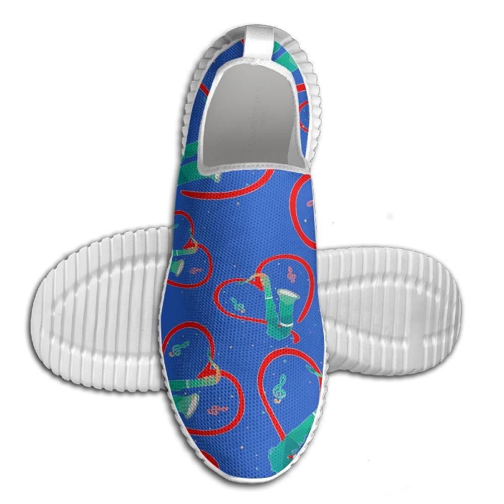Saxophone Men Anti-Slip Loafers Fashion Stitched Walking Sneakers