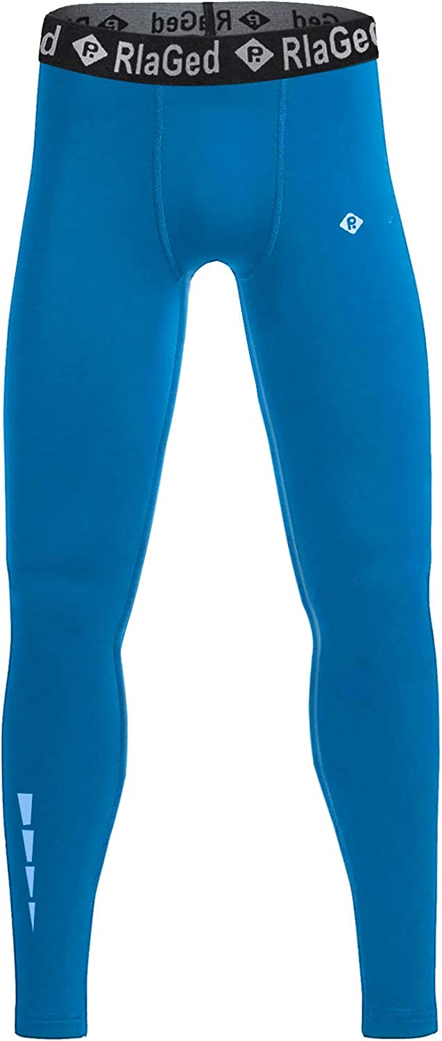 RlaGed Youth Boys Compression Leggings Pants,Quick Dry Football Basketball Legging Sports Tights Athletic Baselayer for Boys