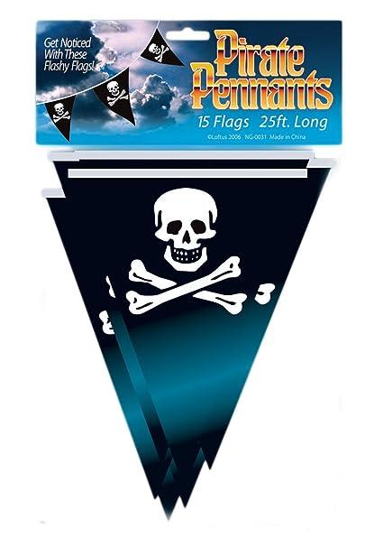 Amazon.com: Loftus Internacional Pirata Bandera de Pennant ...