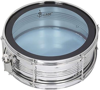 Snare Drum Tambor de Caja Cuero Blanco Cuero Azul Doble Color Banda Opcional Equipo Batería Caja Batería Percusión,Blue: Amazon.es: Deportes y aire libre