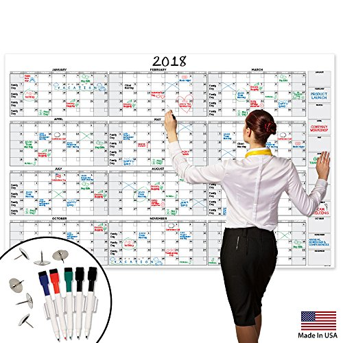 Giants Wall Calendar (Large Dry Erase Wall Calendar - 58