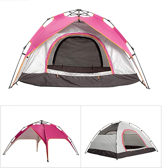 3-4 Person Large Tent Family Pop Up Tent Camping Festival Shelter Picnic Beach