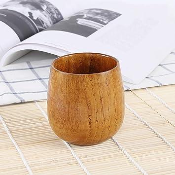 TAOtTAO - Taza de té de madera maciza hecha a mano (tamaño pequeño),