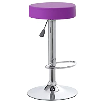 Pleasing Kerland Round Breakfast Bar Stools Backless Kitchen Counter Height Indoor Bar Stool 30 Inch Purple 1 Gmtry Best Dining Table And Chair Ideas Images Gmtryco