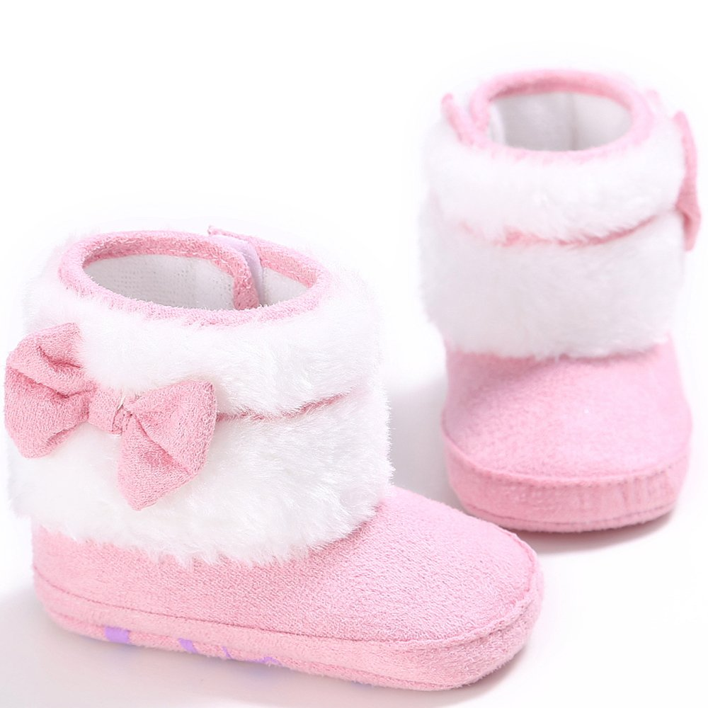 Baby Boots, Baby Girls Bowknot Warm Soft Sole Winter Toddler Snow Boots Toddler Shoes Gift