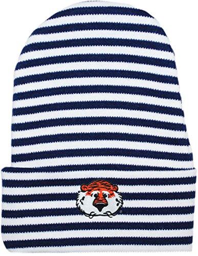 Auburn University Tigers Aubie Head Striped Newborn Knit Cap