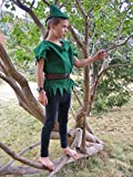 Peter Pan/Robin Hood 3 Piece Felt Costume Elf Elves Dress up Pretend Play