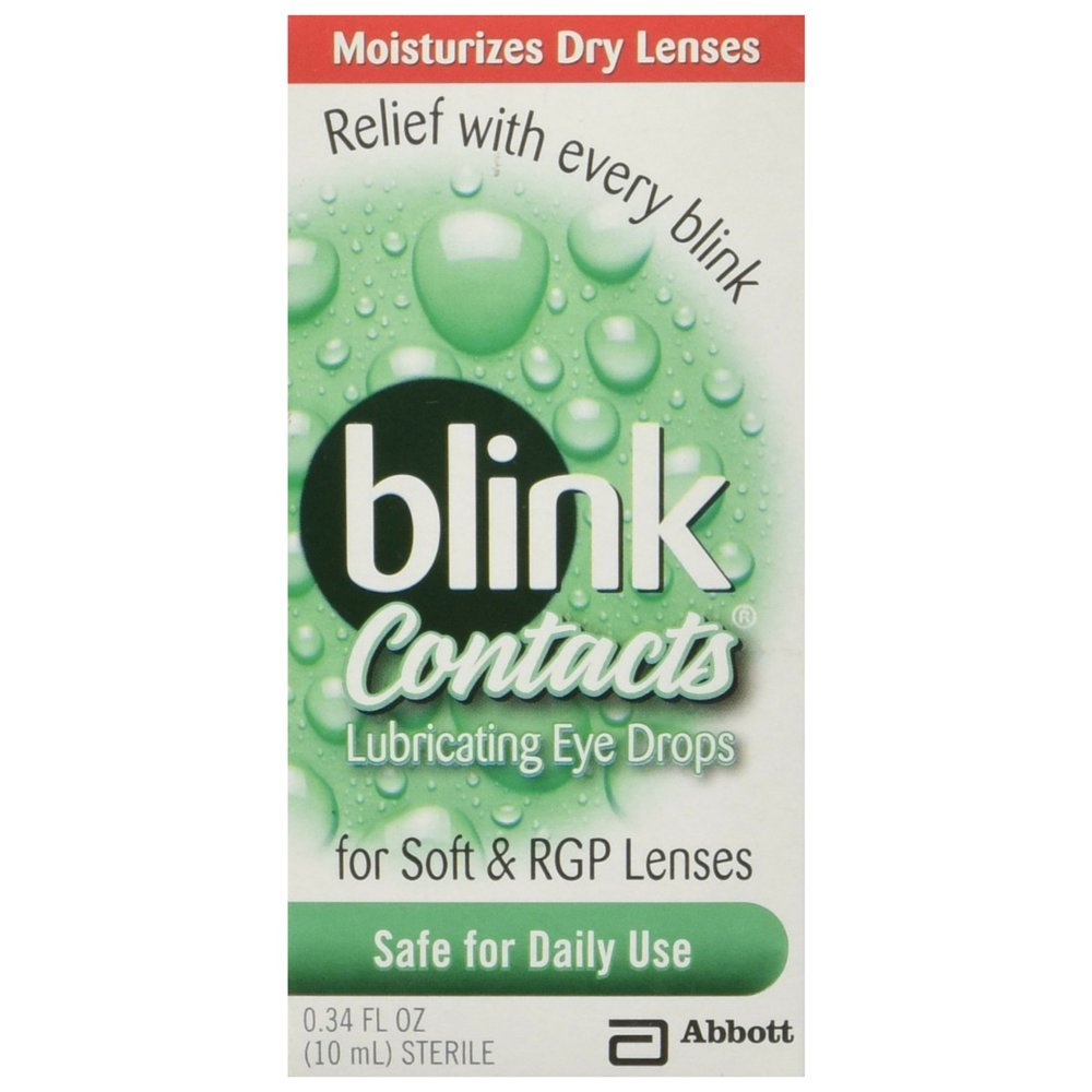 Blink Contacts Lubricating Eye Drops,10 mL (Pack of 2)
