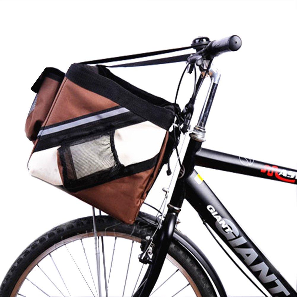Treat Me Transportín Frontal para Bicicletas Bolso Frontal para Bicicletas Bolso Cesta para Perro Azul: Amazon.es: Hogar