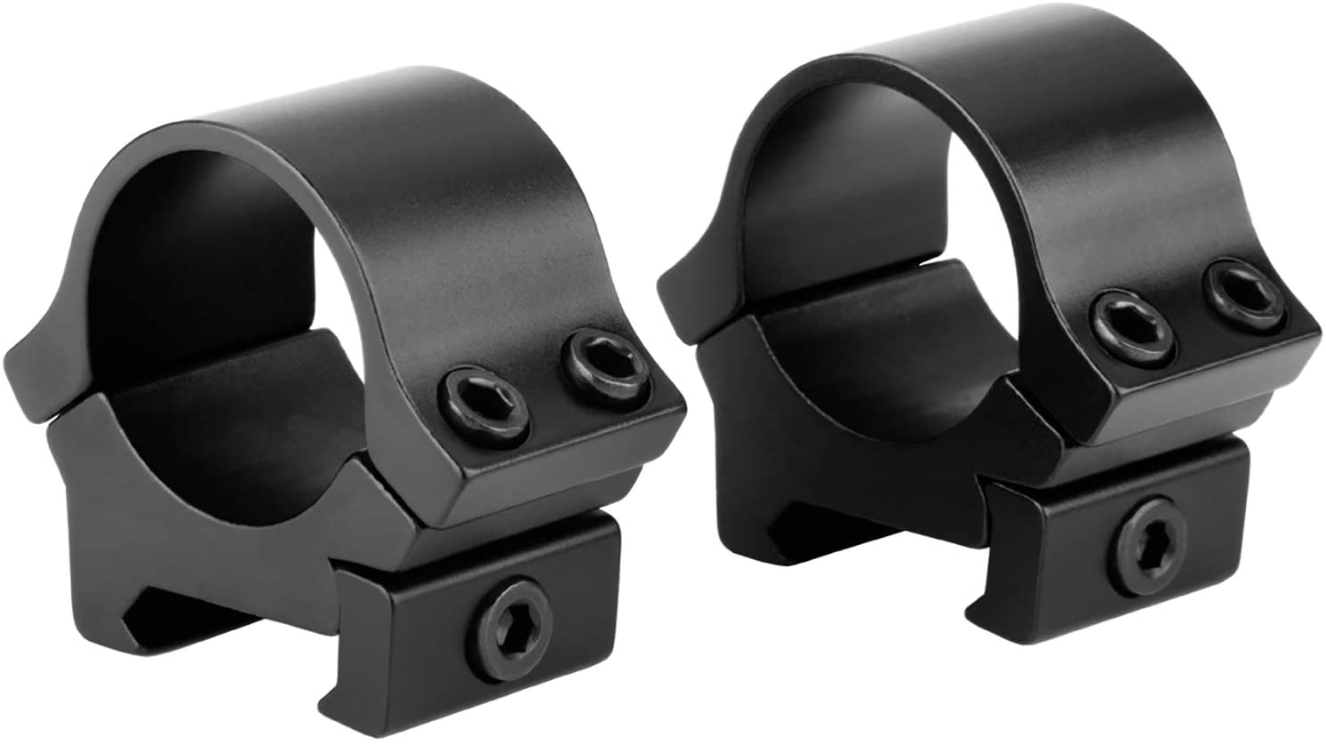 Low Profile Scope Rings 1 inch 2 Pieces Rifle Scope Rings Scope Mounting Rings 1 Inch for Picatinny and Weaver Rails