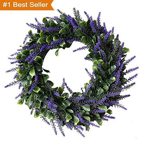 Magneticspace Artificial Lavender Wreath, 17