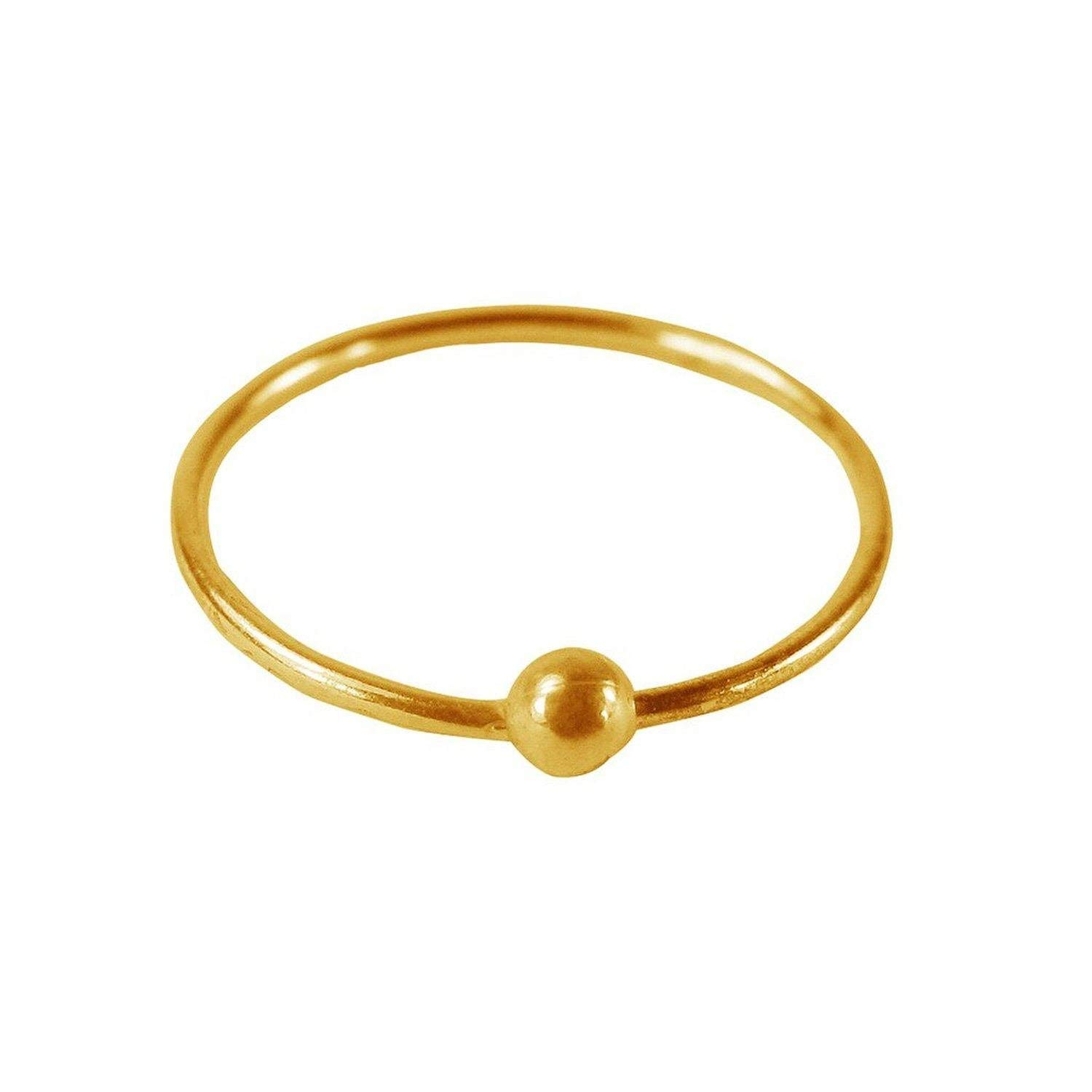 Buy Eloish Gold Ball Nose Ring For Women At Amazon In