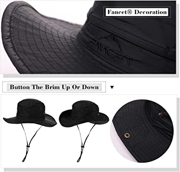 Boonie Hat- Outback Hat Siggi Mens Sun Hat Comhats Siggi UPF50 Walking Hat -Bush Hat Hiking Hat Fishing Hat-Wide Brim Hat -Trekking Hat