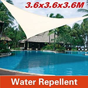 3.6M Sun Shade Patio Lawn Backyard Canopy Triangle for Outdoor Sail UV Top Cover