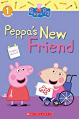 Peppa Pig Level 1 Reader with Stickers: Peppa's New Friend Paperback