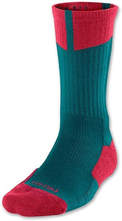 Jordan Nike Air 1 Pair Crew Socks Green/Red, Medium