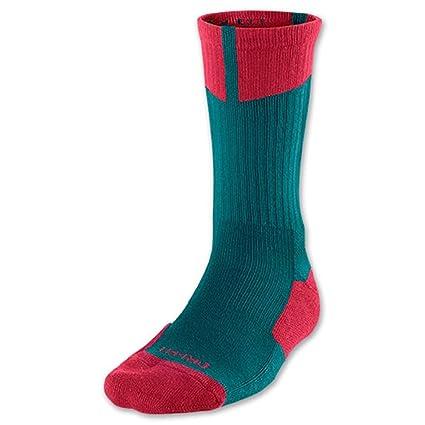 Jordan Nike Air 1 Pair tripulación Calcetines Verde/Rojo ...