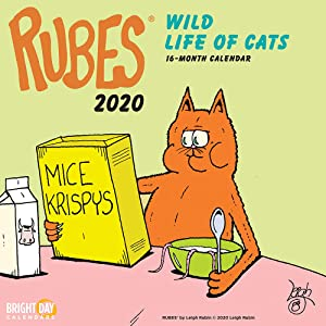 2020 Rubes Wild Life of Cats Wall Calendar by Bright Day, 16 Month 12 x 12 Inch, Funny Novelty Comic Strip Animal Cat Dog Feline